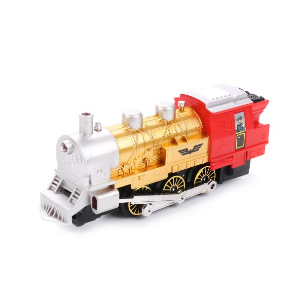 Железная дорога на батарейках, с дымом, свет и звук, длина полотна 282 см. - Детская железная дорога, артикул: 171671