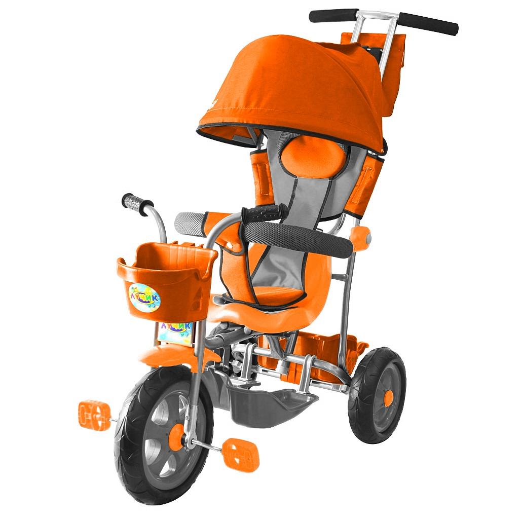 3-х колесный велосипед Galaxy Лучик Л001 с капюшоном, оранжевыйВелосипеды детские<br>3-х колесный велосипед Galaxy Лучик Л001 с капюшоном, оранжевый<br>