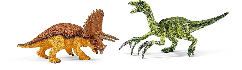 Набор фигурок - Трицератопс и Теризинозавр, малыеЖизнь динозавров (Prehistoric)<br>Набор фигурок - Трицератопс и Теризинозавр, малые<br>