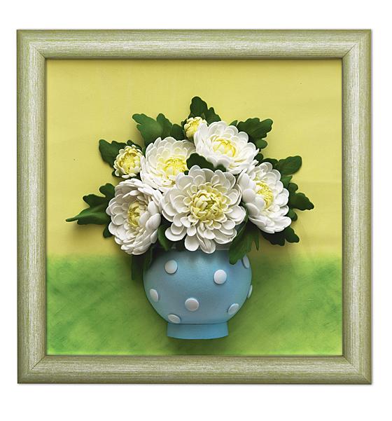 Набор для творчества - 3D картина из фоамирана. Хризантемы по цене 499