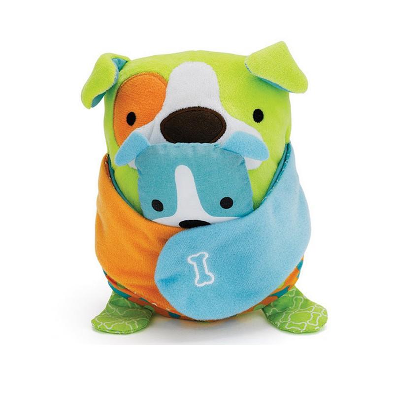 Развивающая подвеска на коляску Собака с щенкомДетские погремушки и подвесные игрушки на кроватку<br>Развивающая подвеска на коляску Собака с щенком<br>