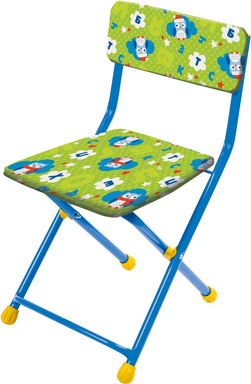 Стул детский складной мягкий из моющейся ткани, зеленый с совушкамиИгровые столы и стулья<br>Стул детский складной мягкий из моющейся ткани, зеленый с совушками<br>