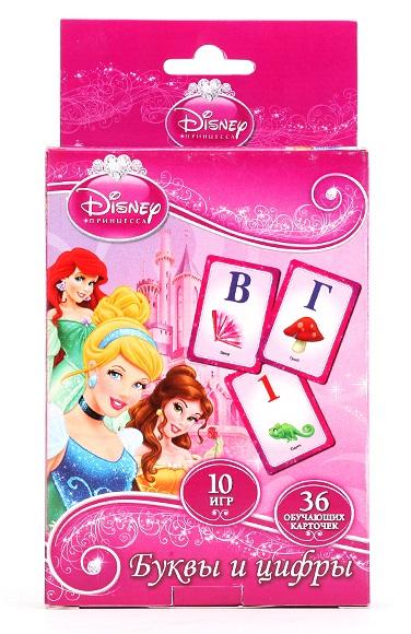Карточки развивающие «Принцессы Дисней» – Учим алфавит и цифры, 36 карточек от Toyway