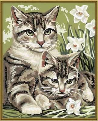 Кошка с котенком, 24*30 смРаскраски по номерам Schipper<br><br>