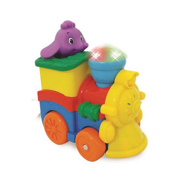 Развивающая игрушка - Паровозик со слоненкомРазвивающие игрушки KIDDIELAND<br>Развивающая игрушка - Паровозик со слоненком<br>