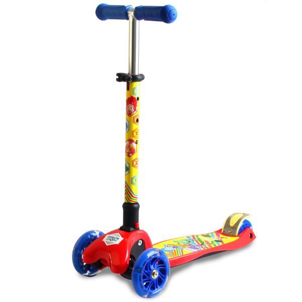 Купить Детский 3-х колесный самокат - Фиксики, управление наклоном