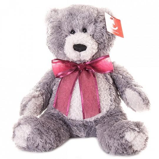 Купить Мягкая игрушка – Медведь, серый, 20 см, Aurora