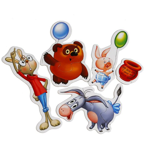 Макси-пазлы – Винни-Пух, 8 развивающих картинокПазлы Союзмультфильм<br>Макси-пазлы – Винни-Пух, 8 развивающих картинок<br>