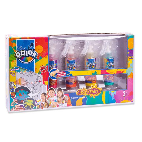 Краски меловые Qolor - Вечеринка монстров, 4 цветаКраски<br>Краски меловые Qolor - Вечеринка монстров, 4 цвета<br>