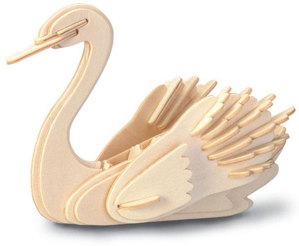 Модель деревянная сборная - ЛебедьПазлы объёмные 3D<br>Модель деревянная сборная - Лебедь<br>