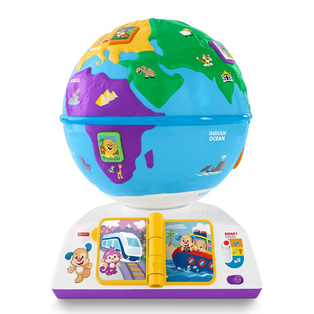 Обучающая игрушка Fisher-Price - ГлобусИнтерактив для малышей<br>Обучающая игрушка Fisher-Price - Глобус<br>