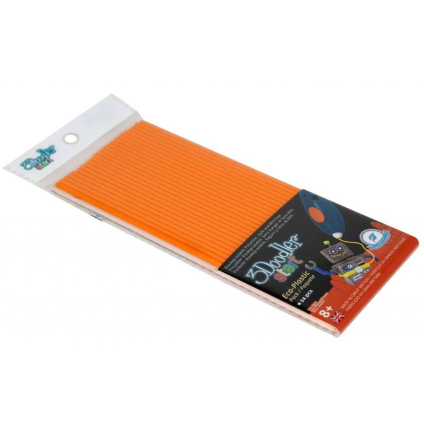 Эко-пластик к 3D-ручке 3Doodler Start, оранжевый3D ручки<br>Эко-пластик к 3D-ручке 3Doodler Start, оранжевый<br>