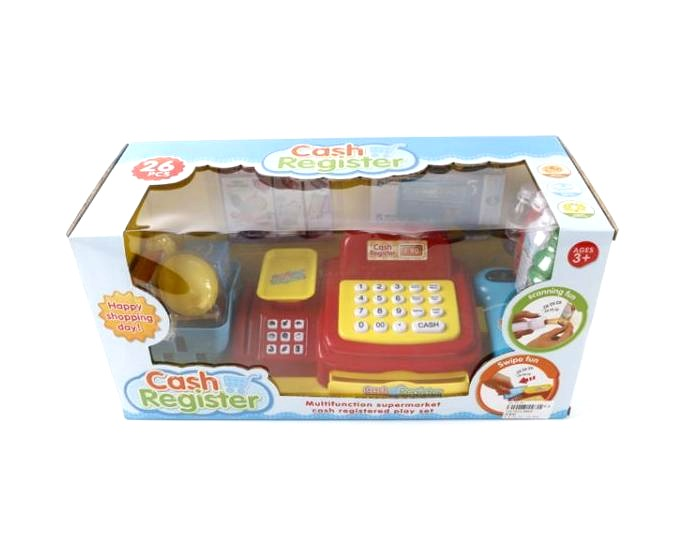 Кассовый аппарат с продуктами и аксессуарами со светом и звукомДетская игрушка Касса. Магазин. Супермаркет<br>Кассовый аппарат с продуктами и аксессуарами со светом и звуком<br>