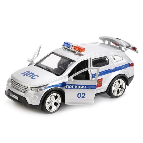 Машина металлическая Hyundai Santafe Полиция 12 см, открываются двери и багажник, инерционнаяHyundai<br>Машина металлическая Hyundai Santafe Полиция 12 см, открываются двери и багажник, инерционная<br>
