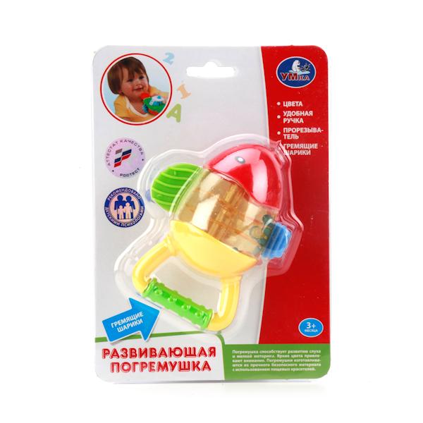 Погремушка - Рыбка с гремящими шариками и прорезывателемДетские погремушки и подвесные игрушки на кроватку<br>Погремушка - Рыбка с гремящими шариками и прорезывателем<br>