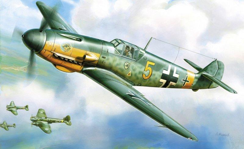 Купить Сборная модель - Истребитель Мессершмитт Bf-109, ZVEZDA