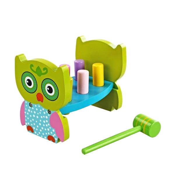 Развивающая игрушка с молоточком – Совенок