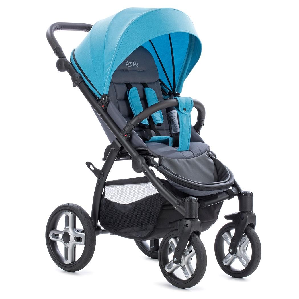 Купить Прогулочная коляска Nuovita Modo Terreno, цвет Blu grigio / Сине-серый