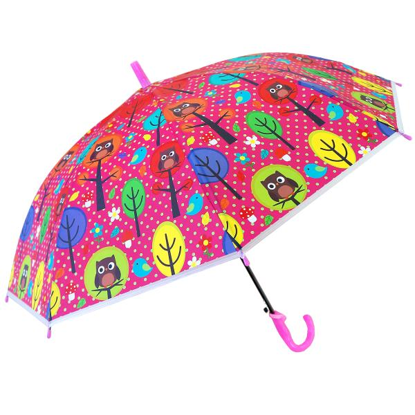 Зонт Совушки диаметр 50 см., со свистком, матовыйДетские зонты<br>Зонт Совушки диаметр 50 см., со свистком, матовый<br>