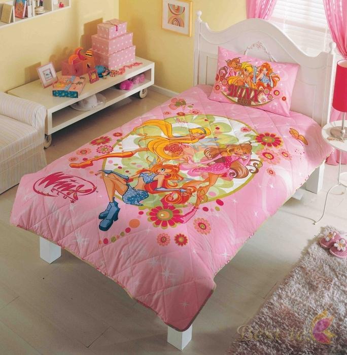 Детское покрывало, 1,5 спальное  WINX FAIRYДетские покрывала и пледы<br>Детское покрывало, 1,5 спальное  WINX FAIRY<br>
