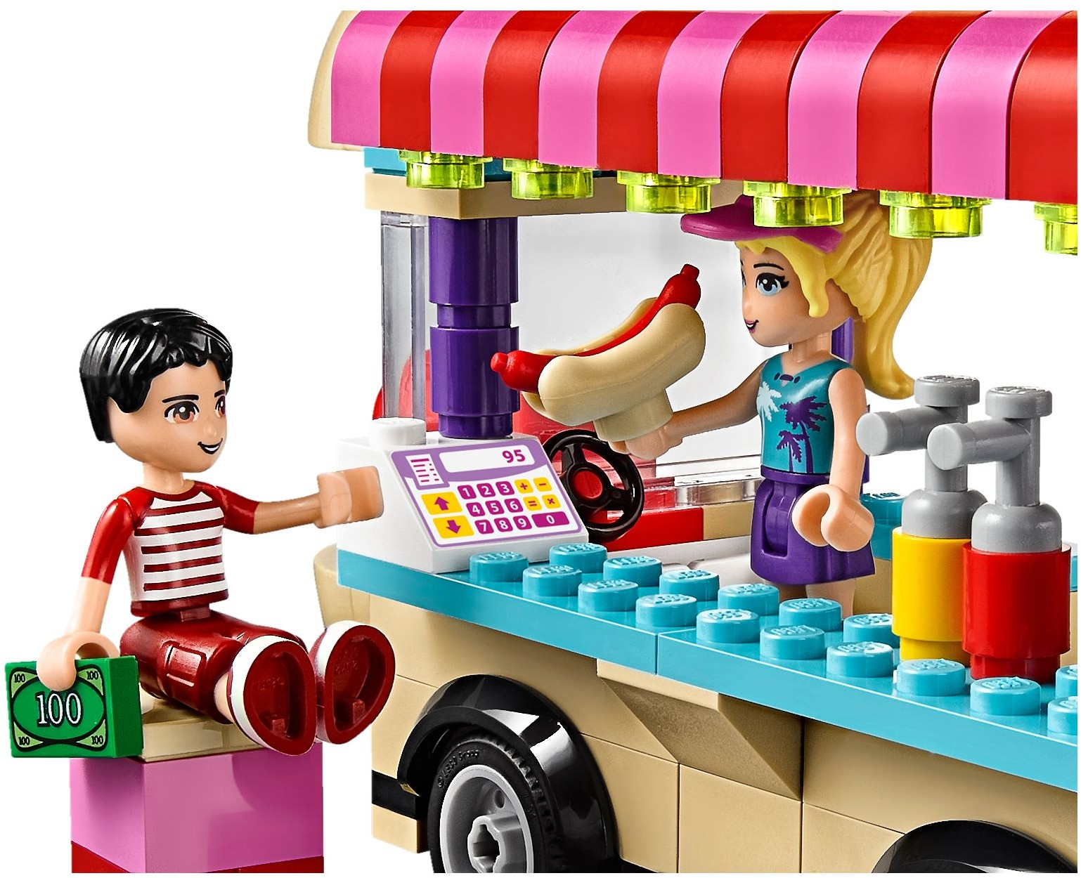 Lego Friends. Парк развлечений: фургон с хот-догами