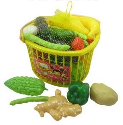 Детский игровой набор овощей в корзине, 25 предметов - Аксессуары и техника для детской кухни, артикул: 28756