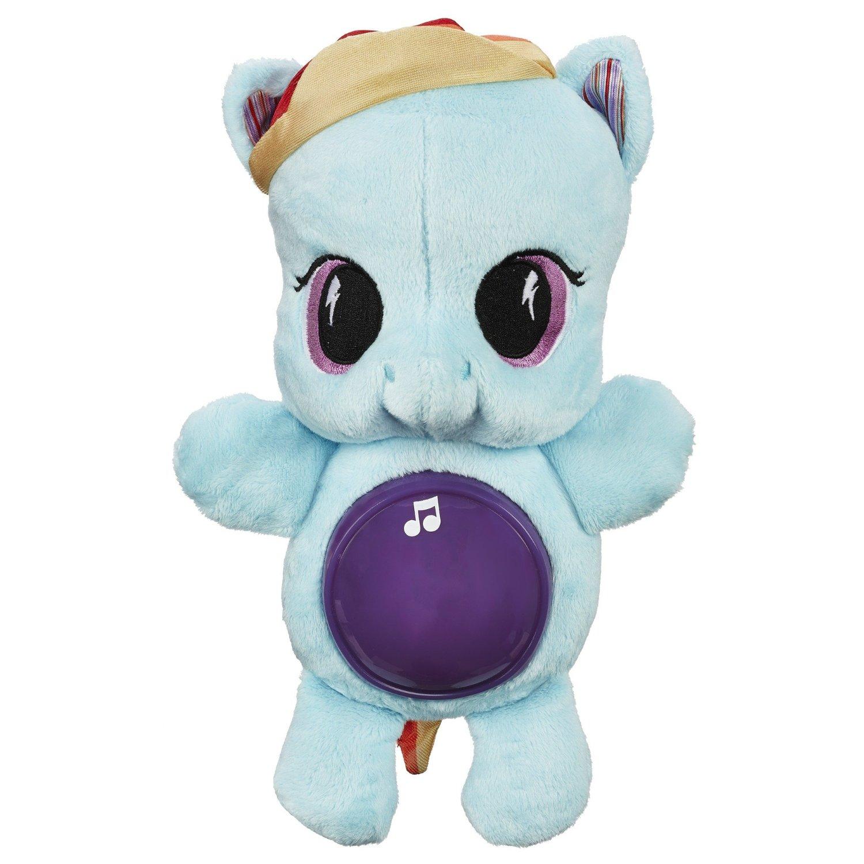 Мягкая игрушка Рейнбоу Дэш, светится, серия Playskool friends, My Little PonyМоя маленькая пони (My Little Pony)<br>Мягкая игрушка Рейнбоу Дэш, светится, серия Playskool friends, My Little Pony<br>