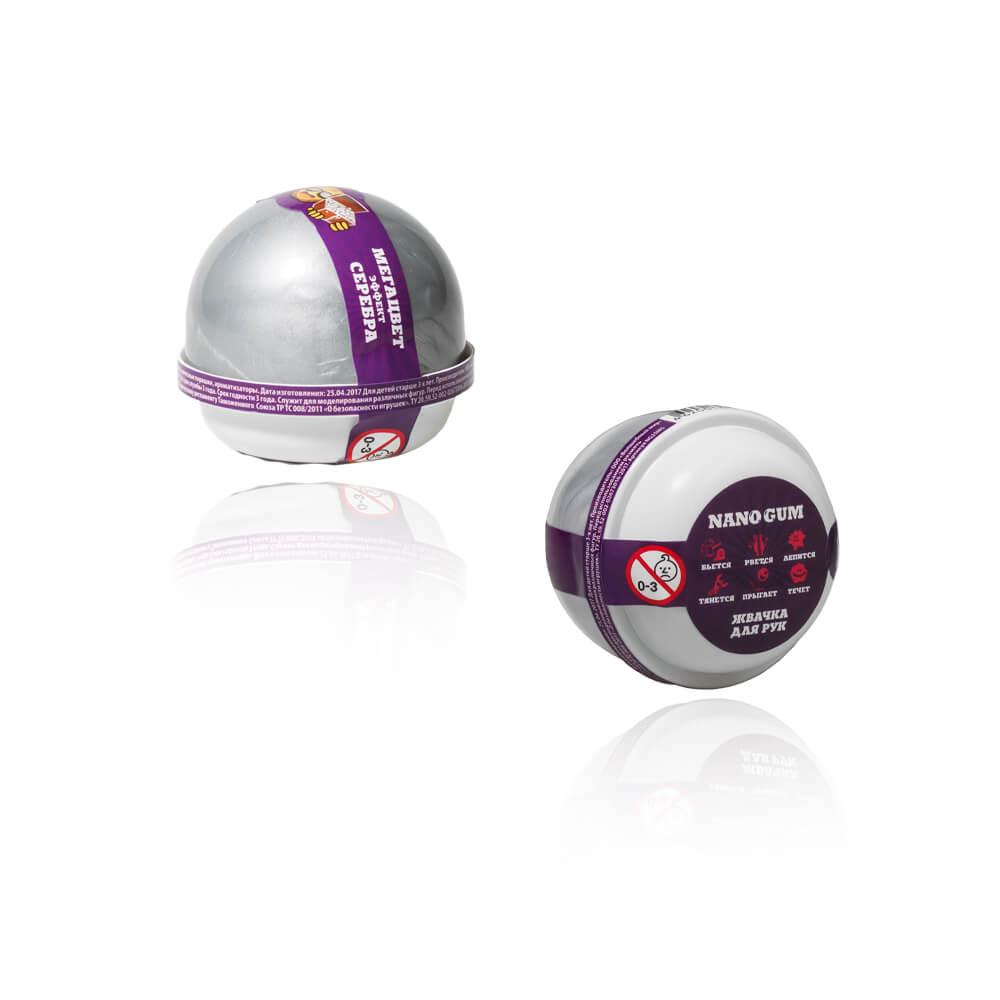 Купить со скидкой Жвачка для рук - Nano gum, эффект серебра, 25 грамм