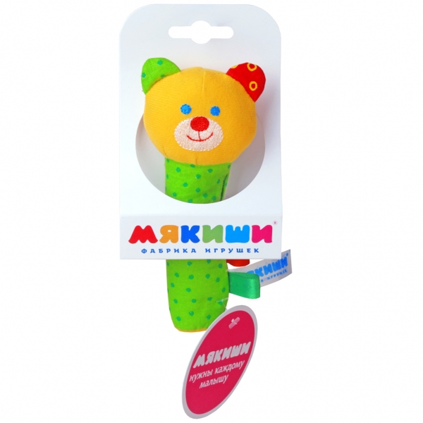 Игрушка «Мишка» из серии ШумякишиДетские погремушки и подвесные игрушки на кроватку<br>Игрушка «Мишка» из серии Шумякиши<br>