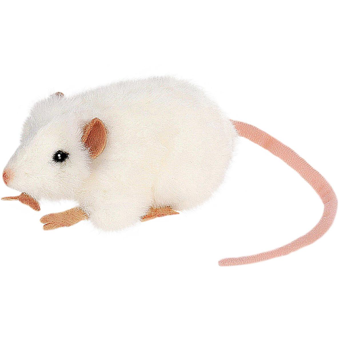 Мягкая игрушка - Крыса белая, 12 см.Животные<br>Мягкая игрушка - Крыса белая, 12 см.<br>