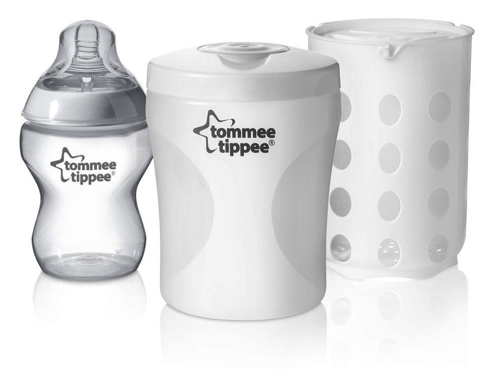 Купить Стерилизатор для одной бутылочки, холодная и паровая стерилизация, Tommee Tippee