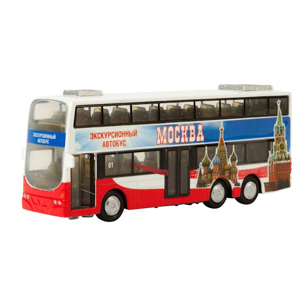 Автобус металлический, инерционный, двухэтажный, свет и звук, открываются двериАвтобусы, трамваи<br>Автобус металлический, инерционный, двухэтажный, свет и звук, открываются двери<br>