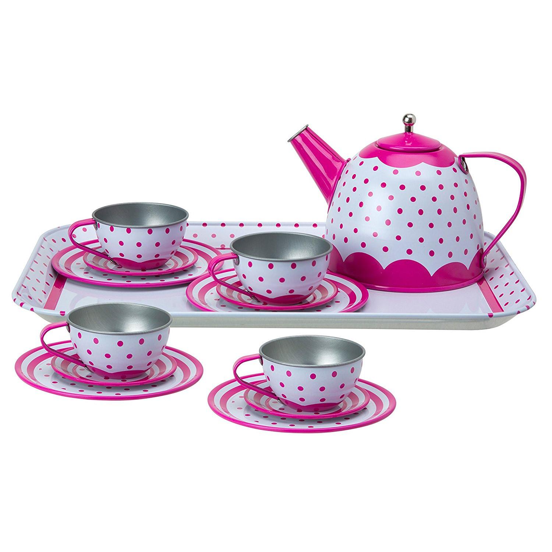 Чайный сервиз - Горошек, 15 предметовАксессуары и техника для детской кухни<br>Чайный сервиз - Горошек, 15 предметов<br>