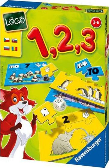 Настольная игра Лого 1, 2, 3Развивающие<br>Настольная игра Лого 1, 2, 3<br>