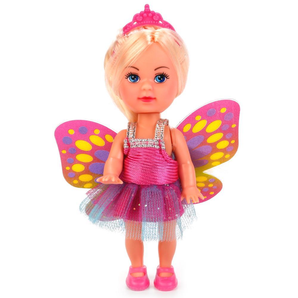 Купить Кукла Машенька-принцесса, 12 см, в комплекте хвост русалки и крылья феи, Карапуз