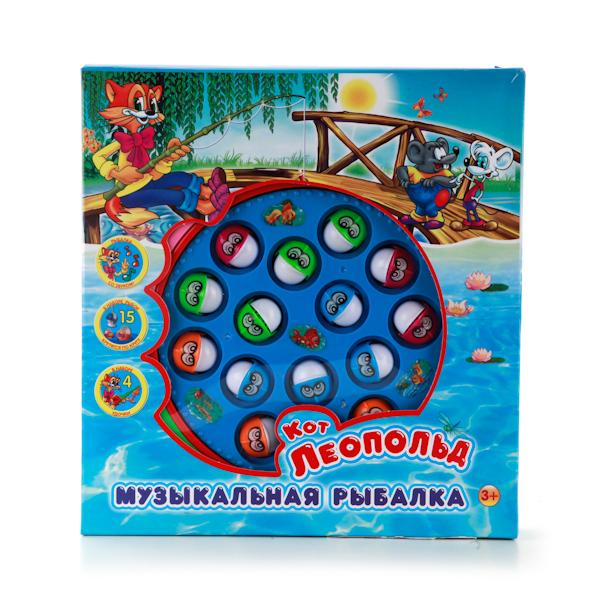 Игра «Рыбалка Кота Леопольда» с песенкойДля самых маленьких<br>Игра «Рыбалка Кота Леопольда» с песенкой<br>