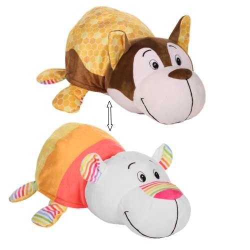 Купить Плюшевая игрушка из серии Вывернушка Ням-Ням 2-в-1 Хаски с ароматом медовой глазури-Полярный мишка с ароматом фруктового мороженого, 40 см., 1TOY