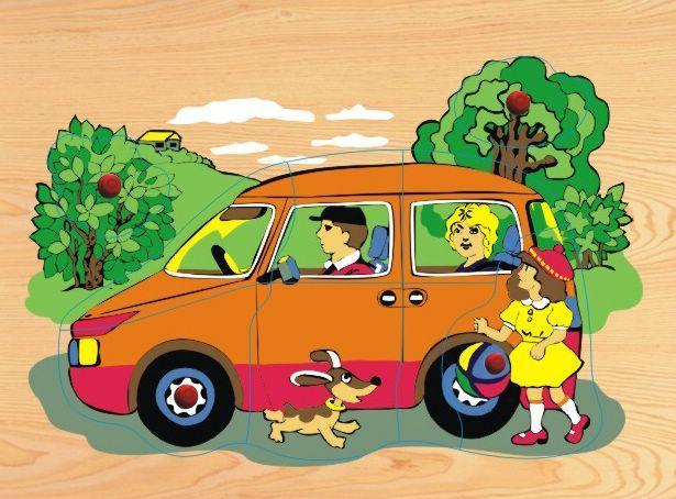 Деревянная рамка-пазл - АвтомобильРамки и паззлы<br>Деревянная рамка-пазл - Автомобиль<br>