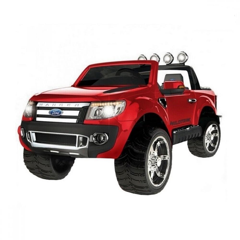 Электромобиль - Ford Ranger 2016 New, красныйЭлектромобили, детские машины на аккумуляторе<br>Электромобиль - Ford Ranger 2016 New, красный<br>