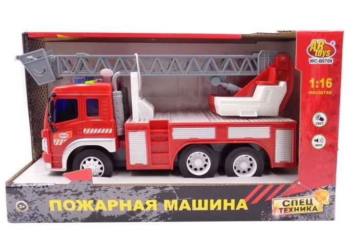Купить Машина Пожарная инерционная – 1:16. Световые и звуковые эффекты, ABtoys