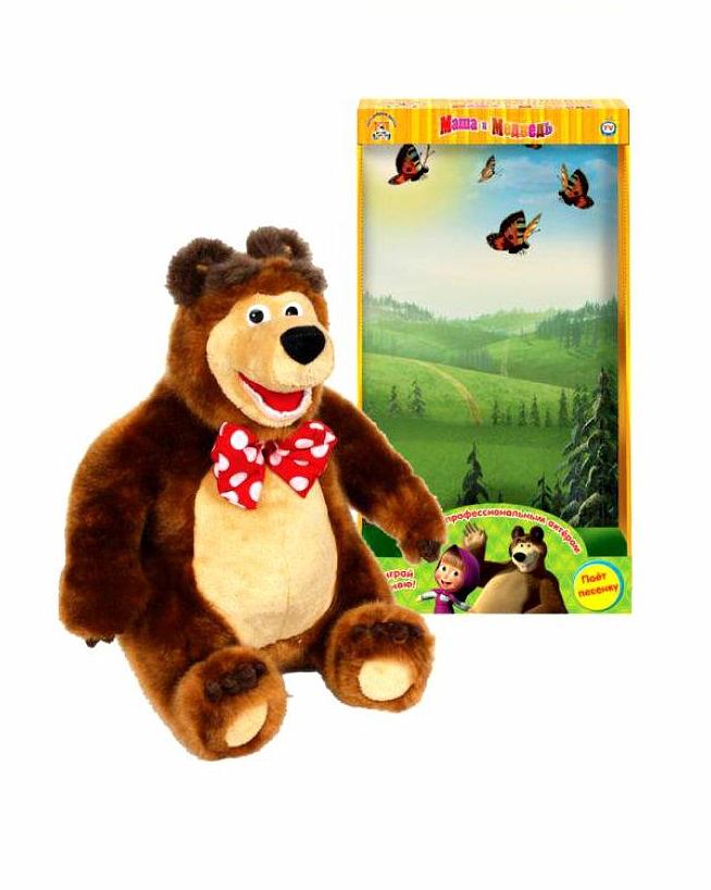 Мягкая игрушка Мишка из серии Маша и медведь, озвученный, с русским чипом, 28 см.Говорящие игрушки<br>Мягкая игрушка Мишка из серии Маша и медведь, озвученный, с русским чипом, 28 см.<br>