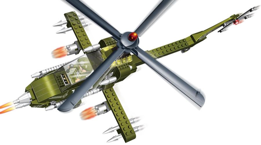 Конструктор Военный вертолёт - Конструкторы BANBAO, артикул: 98224