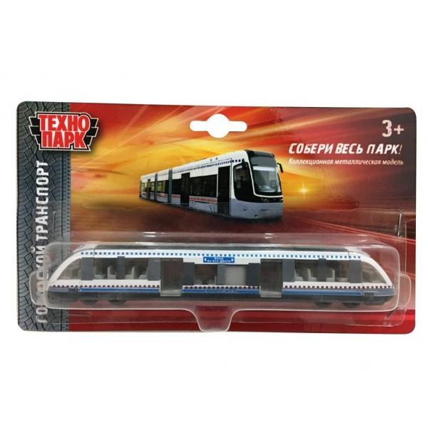 Машина металлическая - Трамвай, длина 16,5 см на блистереГородская техника<br>Машина металлическая - Трамвай, длина 16,5 см на блистере<br>