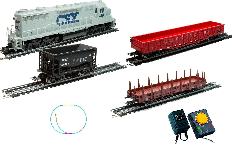 Стартовый набор из серии Mehano Hobby - Тепловоз CSX с 3-мя вагонамиДетская железная дорога<br>Стартовый набор из серии Mehano Hobby - Тепловоз CSX с 3-мя вагонами<br>