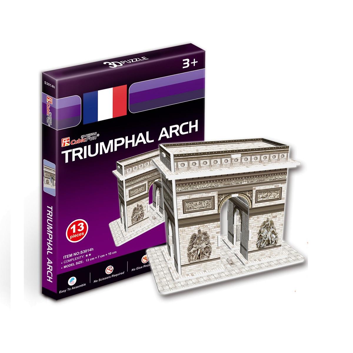 Объемный 3D-пазл Триумфальная арка, Франция, мини серияПазлы объёмные 3D<br>Объемный 3D-пазл Триумфальная арка, Франция, мини серия<br>