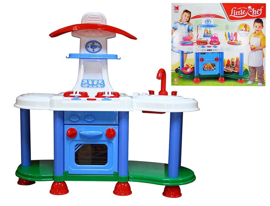 Игровой модуль Кухня, с плитой и льющейся водой, 48 предметовДетские игровые кухни<br>Игровой модуль Кухня, с плитой и льющейся водой, 48 предметов<br>