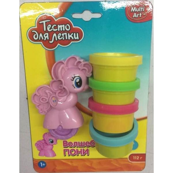 Тесто для лепки – Пони, 4 цветаНаборы для лепки<br>Тесто для лепки – Пони, 4 цвета<br>