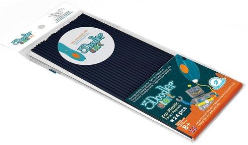 Купить Эко-пластик к 3Д ручке 3Doodler Start, цвет черный, 24 штуки, Wobble Works