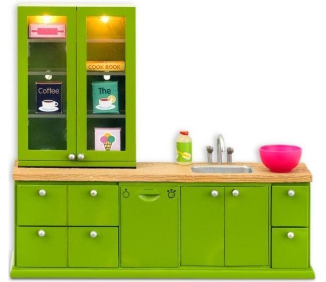 Купить Мебель для кукольного домика Смоланд - Кухонный набор с буфетом, Lundby