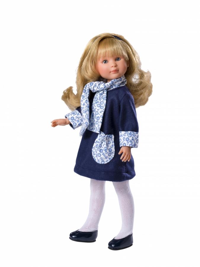 Купить Кукла Селия в синем пальто, 30 см, ASI